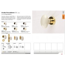 DOOR KNOB OVAL PORCELLANA 053  002